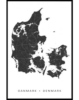 Denmark Map Juliste