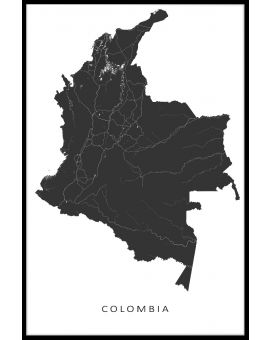 Colombia Map Juliste