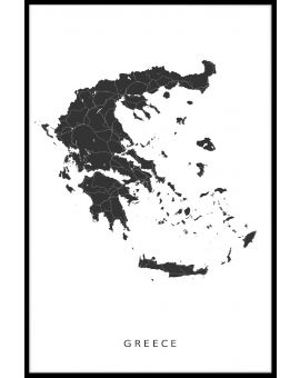 Greece Map Juliste