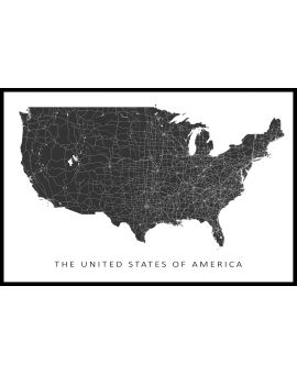 USA Map N02 Juliste