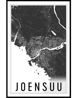 Joensuu Map Juliste