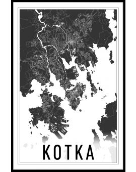 Kotka Map Juliste