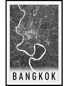 Bangkok Map N02 Juliste