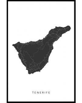 Tenerife Map Juliste