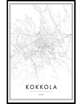 Kokkola Map N02 Juliste