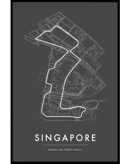 Singapore Marina Bay Circuit Juliste