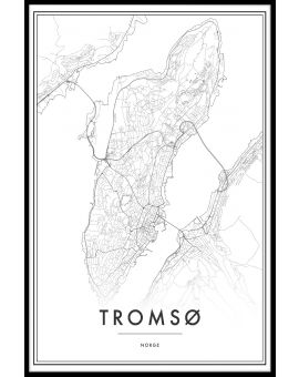 Tromsø Map Juliste
