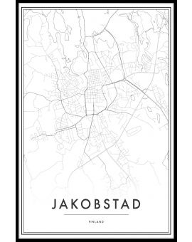Jakobstad Map Juliste