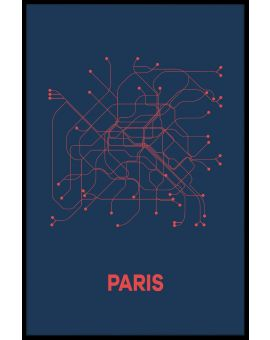 Paris Metro Map Juliste