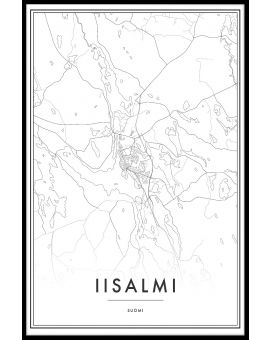 Iisalmi Map Juliste