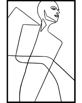 Abstract Line Art N04 Juliste