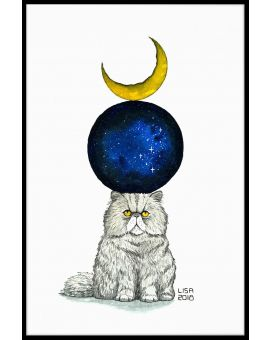 Cosmic Monday Cat Juliste