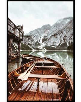 Boats At Braies Lake Juliste