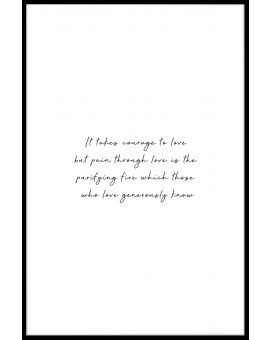 Courage to Love Juliste