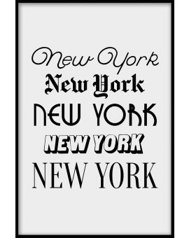 New York Typography Juliste