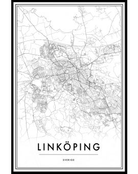 Linköping Map Juliste