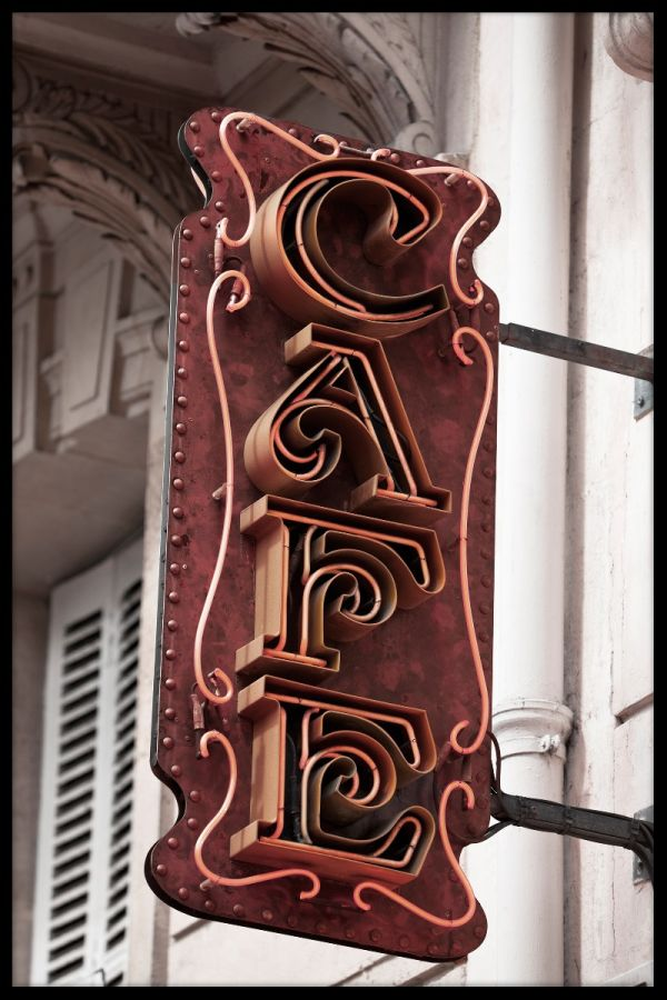 Cafe Sign Paris Juliste