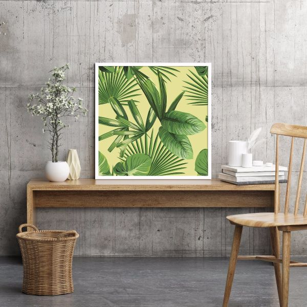 Tropical Palm Leaves Illustration Printti