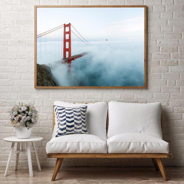 Golden Gate Bridge Low Fog Printti