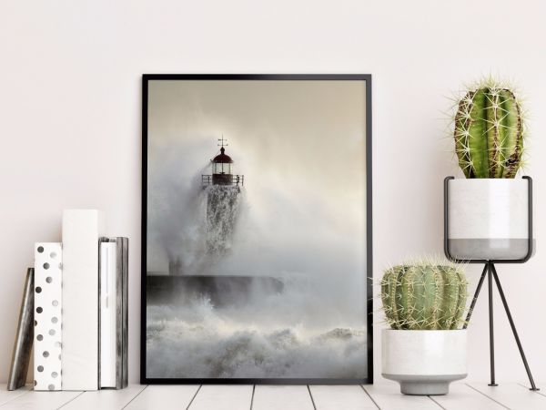 Lighthouse in Storm Printti