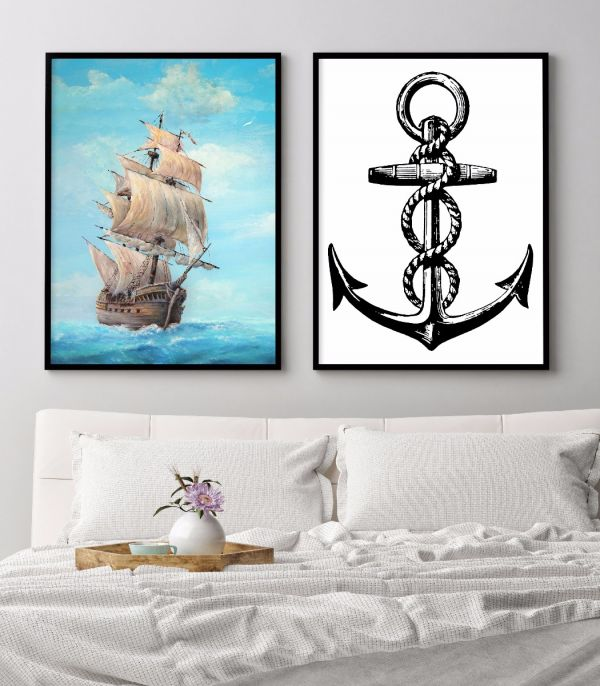 Old Wooden Ship Painting Printti