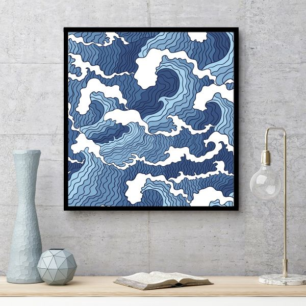 Abstract Waves Illustration Printti