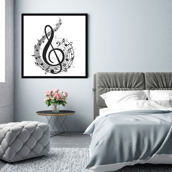 Music Note Illustration Printti