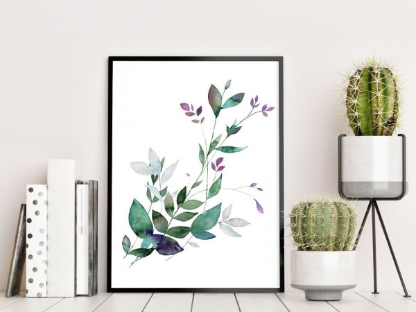 Floral Watercolor Printti