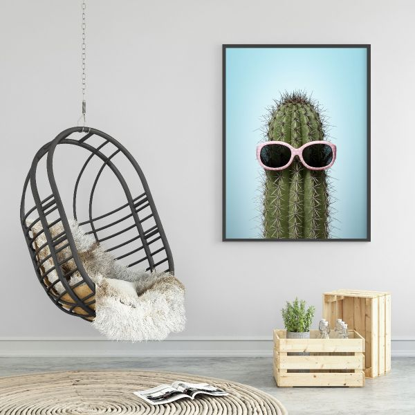 Cactus with sunglasses Printti