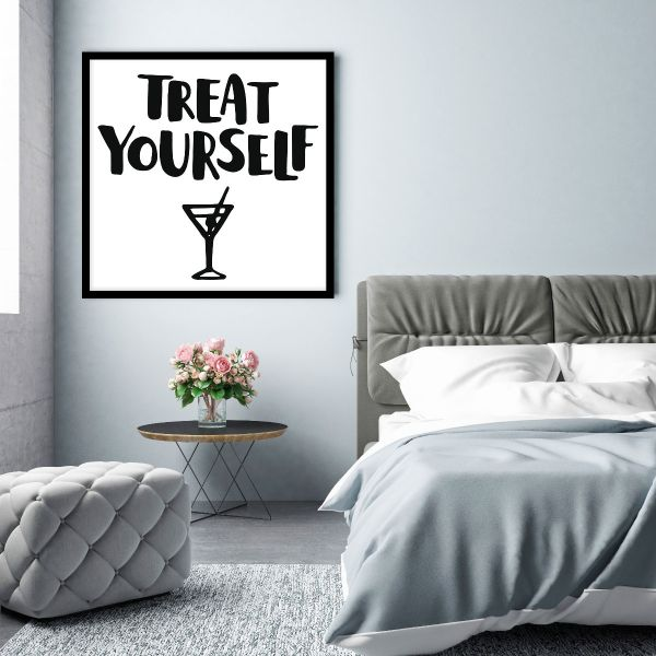 Treat Yourself Text Printti