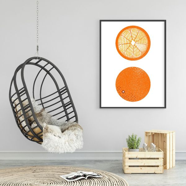 Oranges Graphical Illustration Printti