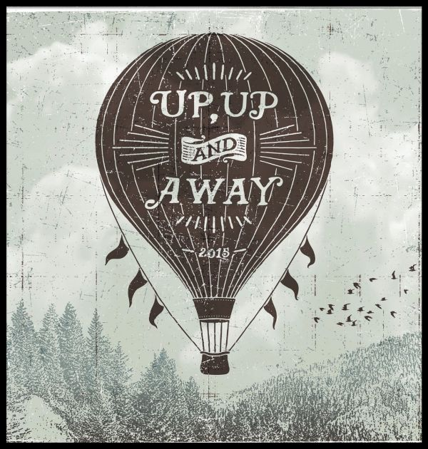 Up Up And Away Juliste