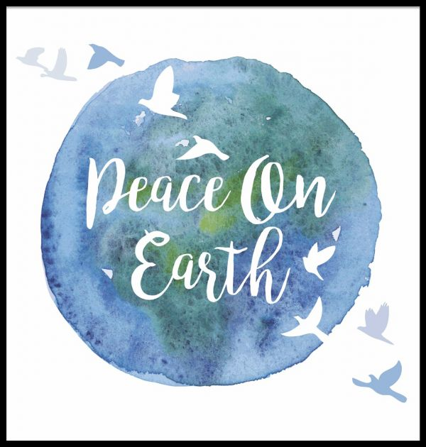 Peace On Earth Illustration Juliste