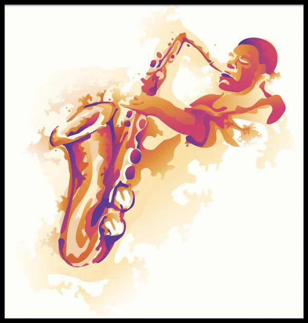 Splashing Jazz Illustration Juliste