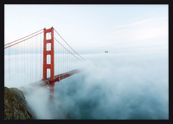 Golden Gate Bridge Low Fog Juliste