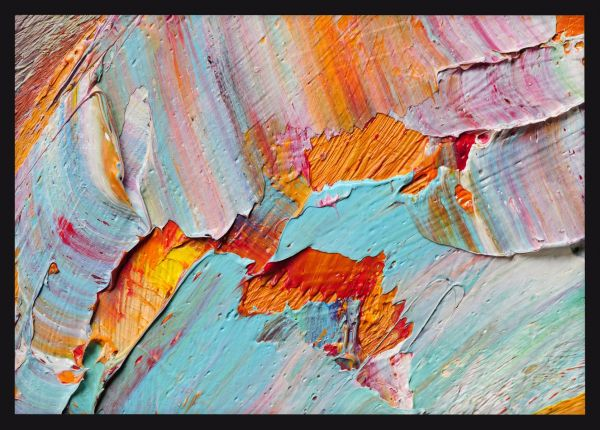 Abstract Macro Oil Paints Juliste