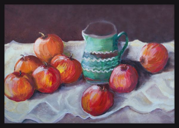 Apples Oil Painting Juliste