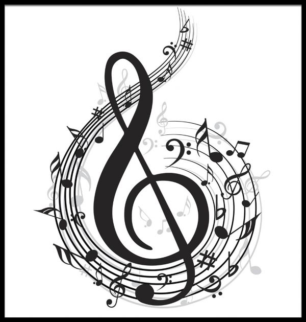 Music Note Illustration Juliste