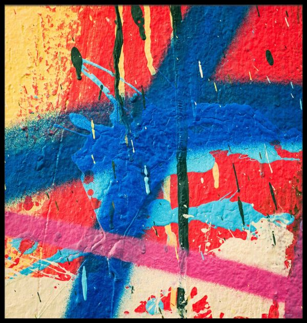Multi Coloured Graffiti Paint Juliste