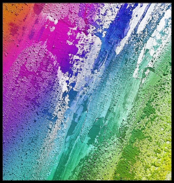 Abstract Colorful Paint Juliste