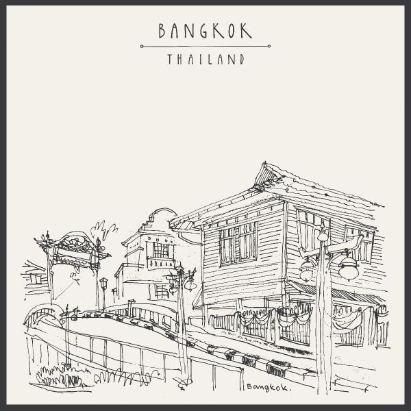 Bangkok Thailand Illustration N02 Juliste