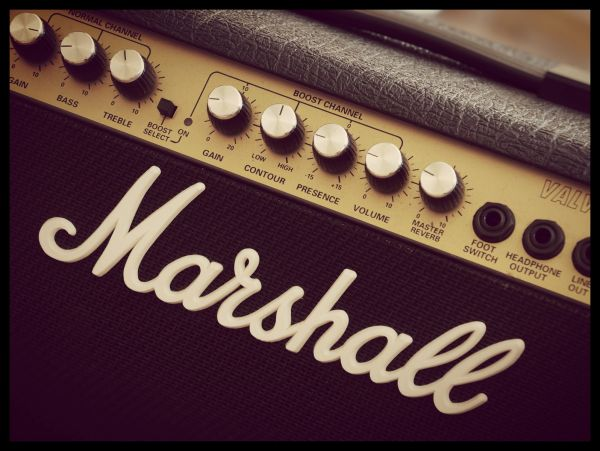 Vintage Marshall Amplifier Juliste