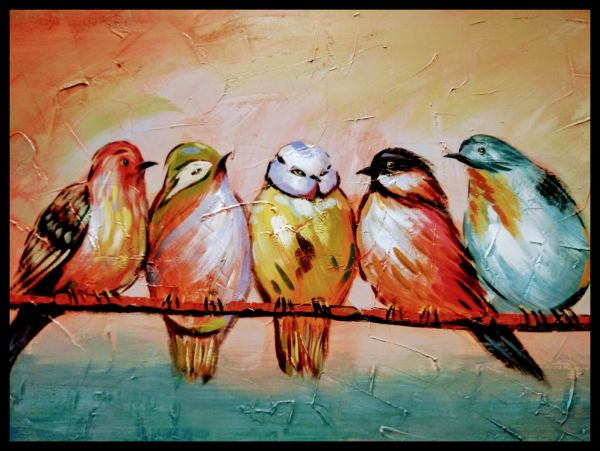 Bird Painting Juliste