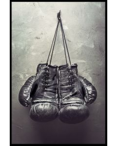 Hanging Boxing Gloves Juliste