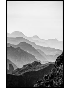 Misty Mountains Black and White Juliste